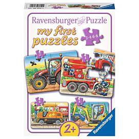 PUZZEL - MY FIRST PUZZLES - Aan het werk - 2+4+6+8 stukjes