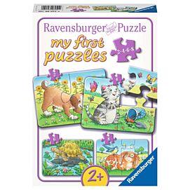 PUZZEL - MY FIRST PUZZLES - Schattige huisdieren - 2+4+6+8 stukjes