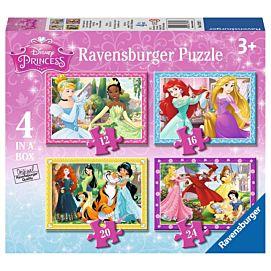 PUZZEL - Disney princess - 12+16+20+24 stukjes
