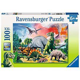 PUZZEL XXL - Tussen de dinosauriers - 100 stukken