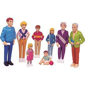 POPPENFIGUREN FAMILIE EUROPEES